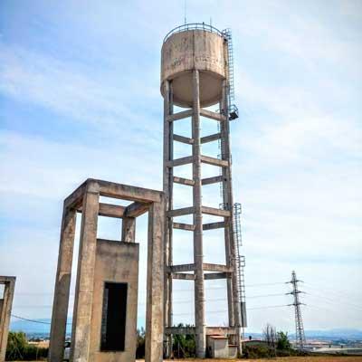 Torre-aigua plataforma elevadora